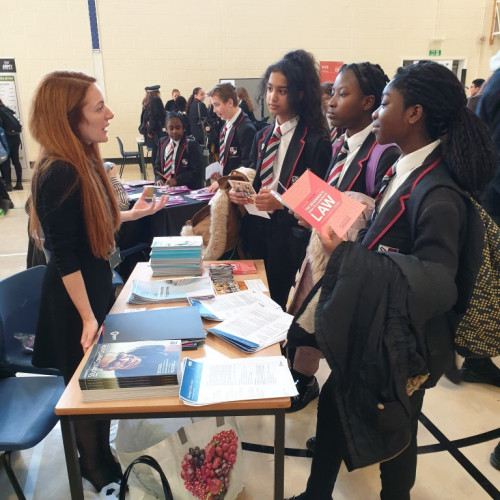Interactions with HE institutions at our FOYF fair